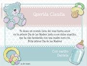 Tarjetas de Dia de las Madres para imprimir. En tu primer día de las Madres
