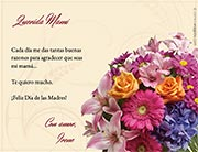 Tarjeta de Día de las Madres personalizable. Felicidades,