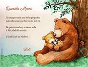 Tarjeta de Día de las Madres personalizable. Gracias por todo,