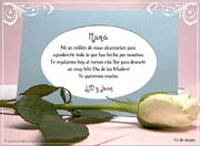 Tarjetas de Dia de las Madres para imprimir. Una rosa para ti
