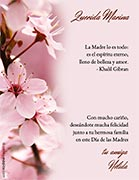 Tarjetas de Dia de las Madres para imprimir. Espíritu de belleza y amor