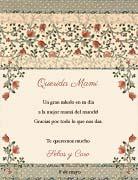 Tarjetas de Dia de las Madres para imprimir. Trama floral