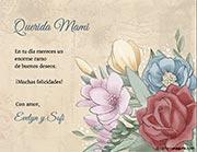 Tarjeta de Día de las Madres personalizable. Vintage,
