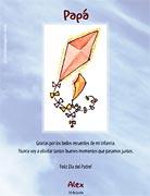 Tarjetas para imprimir de Dia del Padre. Recuerdos de infancia