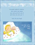 Tarjeta de Día del Padre personalizable. De tu bebé,