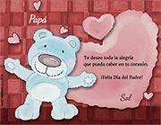 Tarjeta de Día del Padre personalizable. Alegría y amor,
