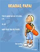 Tarjeta de Día del Padre personalizable. De tu genial hijo,