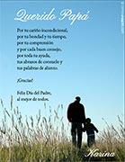 Tarjeta de Día del Padre personalizable. Querido Papá,