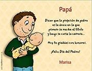 Tarjeta de Día del Padre personalizable. La profesión de padre,