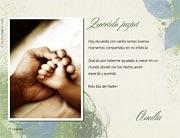 Tarjeta de Día del Padre personalizable. Recuerdos,