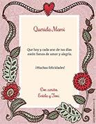 Tarjetas de Felicitaciones para imprimir. Flores