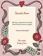 Tarjetas de Dia de las Madres para imprimir. Flores