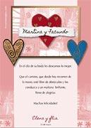 Tarjetas de navidad para imprimir. Felicidades en su boda