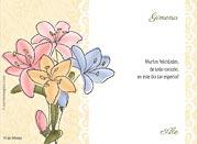 Tarjeta de Cumpleaños para imprimir. Flores
