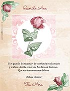 Tarjetas de navidad para imprimir. Rosas
