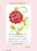 Tarjetas de navidad para imprimir. Hortensia