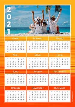 Calendarios 2021 para imprimir. Calendario 2021. Lineas