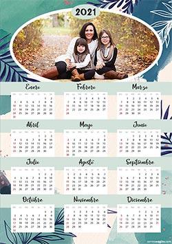 Calendarios 2021 para imprimir. Calendario 2021. Nature