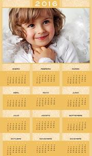 Calendarios de navidad para imprimir. Almanaque 2016