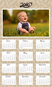 Calendarios de navidad para imprimir. Almanaque 2016 para colgar