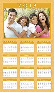 Calendarios de navidad para imprimir. Almanaque de pared 2019. Trama