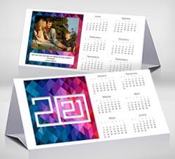 Calendarios 2021 para imprimir. Calendario de escritorio 2021. Geo