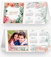 Calendarios de navidad para imprimir. Calendario de escritorio 2017