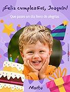 Tarjetas de cumpleaños para imprimir. Alegría en tu día