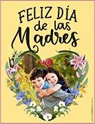 Tarjeta de Día de las Madres personalizable. Feliz día de las Madres,
