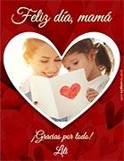 Tarjeta de Día de las Madres personalizable. Feliz día, mamá,