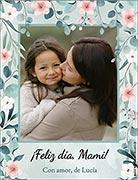 Tarjeta de Día de las Madres personalizable. Para mamá con amor,