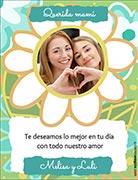 Tarjeta de Día de las Madres personalizable. Lo mejor en tu día,