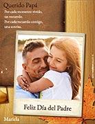 Tarjetas para imprimir de Dia del Padre. Recuerdos