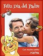 Tarjeta de Día del Padre personalizable. Feliz Día del Padre,