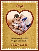 Tarjeta de Día del Padre personalizable. Felicidades en tu día,