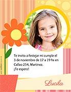 Invitacion para imprimir. Cumpleaños de nena