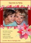 Tarjetas de navidad para imprimir. Flores de Navidad