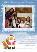 Tarjetas de navidad para imprimir. Blanca Navidad