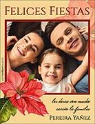 Tarjetas de Navidad para imprimir. Rosa federal