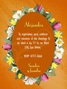 Invitacion de cumpleaños para imprimir. Flores
