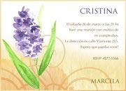 Invitaciones personalizable. Flor, 4 invitaciones dedicadas