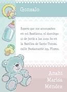 Invitaciones de Bautismo para imprimir. Bebé