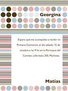 Tarjeta de Comunión para personalizar. Diseño,  4 invitaciones, con souvenirs haciendo juego<br> (aprox. 9 x 12 cm)