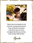 Tarjeta de Comunión para personalizar. Bendiciones,  4 invitaciones, con souvenirs haciendo juego<br> (aprox. 9 x 12 cm)