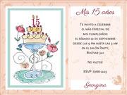 Invitaciones personalizable. Ideal para cumpleaños de 15,
