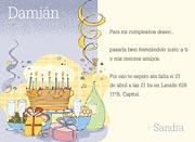 Invitaciones personalizable. Cumpleaños de adultos, 9 invitaciones dedicadas