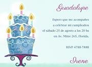 Invitaciones personalizable. Torta, 4 invitaciones dedicadas