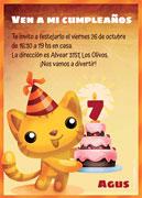 Invitacion de cumpleaños para imprimir. Torta personalizable