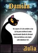 Invitaciones personalizable. Fiesta de Halloween, 4 invitaciones dedicadas