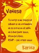 Invitaciones personalizable. Fiesta, 4 tarjetas dedicadas